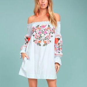 Free People Fleur Du Jour Embroidered Dress